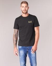 Textil Homem T-Shirt mangas curtas Emporio Armani EA7 JAZKY Preto / Ouro