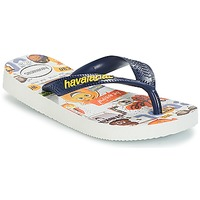 Sapatos Rapaz Chinelos Havaianas KIDS EMOJI MOVIE Branco