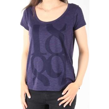 Textil Mulher T-Shirt mangas curtas Lee T-Shirt  Scoop Mystic Plum 40KFL87 blue