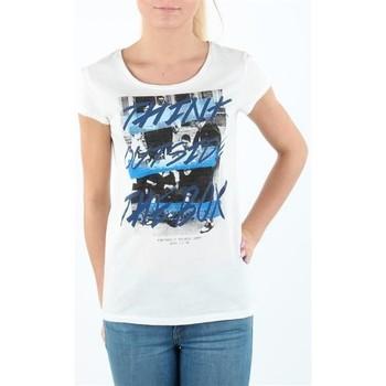 Textil Mulher T-Shirt mangas curtas Lee T-shirt Damski SLIM T CLOUD DANCER L41MEVHA white