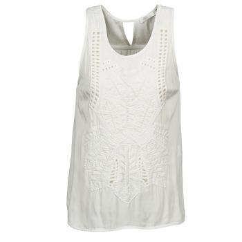Textil Mulher Tops sem mangas See U Soon CHELSEA Branco / Cinza