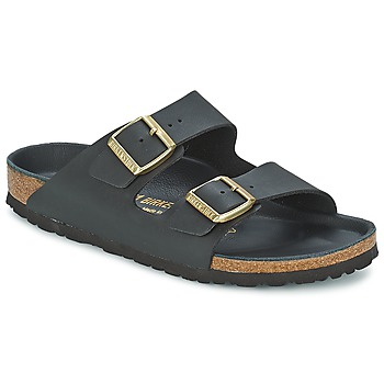Sapatos Mulher Chinelos Birkenstock ARIZONA Preto / Dourado