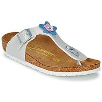Sapatos Rapariga Sandálias Birkenstock GIZEH FLOWER Branco / Pérola