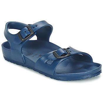 Sapatos Criança Sandálias Birkenstock RIO EVA Marinho