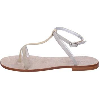 Sapatos Mulher Sandálias Eddy Daniele sandali beige camoscio aw296 Beige