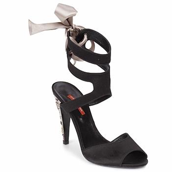 Sapatos Mulher Sandálias Charles Jourdan MADNESS Preto / Areia