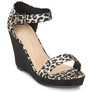 Sapatos Mulher Sandálias Moony Mood IVONGA Preto / Leopardo