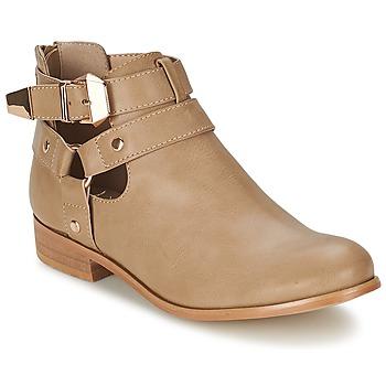 Sapatos Mulher Botas baixas Moony Mood BEZAH Bege