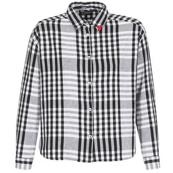 Textil Mulher camisas Scotch & Soda FRINDA Preto / Branco