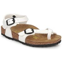 Sapatos Rapariga Sandálias Birkenstock TAORMINA Branco / Verniz