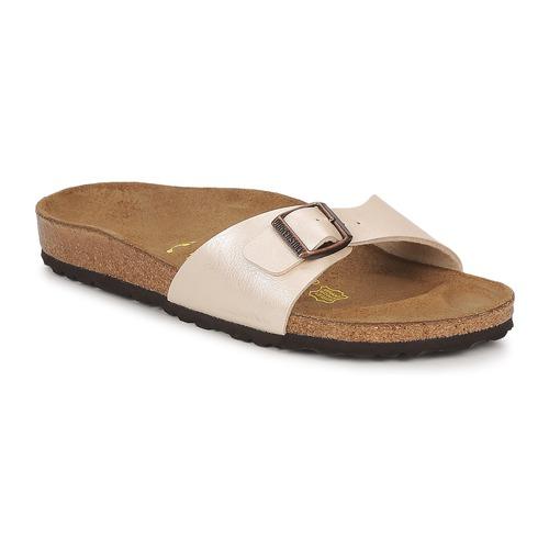 Sapatos Mulher Chinelos Birkenstock MADRID Creme