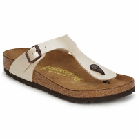 Sapatos Mulher Chinelos Birkenstock GIZEH Creme