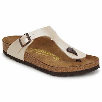 Sapatos Mulher Chinelos Birkenstock GIZEH Creme