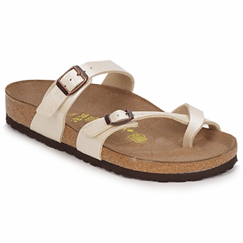 Sapatos Mulher Chinelos Birkenstock MAYARI Creme