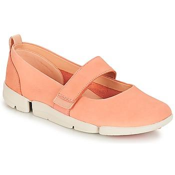Sapatos Mulher Sabrinas Clarks Tri Carrie Rosa / Nubuck