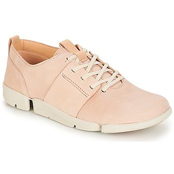 Sapatos Mulher Sapatilhas Clarks Tri Caitlin Cru / Rosa