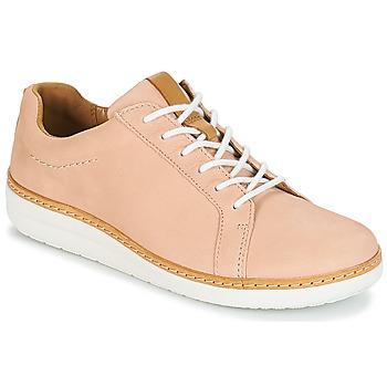 Sapatos Mulher Sapatos Clarks Amberlee Rosa Cru / Nubuck