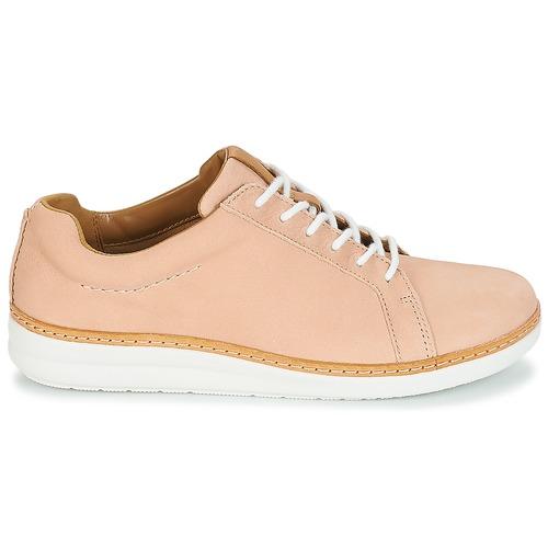 Amberlee Rosa Clarks Sapatos Mulher Cru / Nubuck