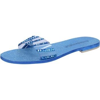 Sapatos Mulher Sandálias Eddy Daniele sandali blu camoscio plastica swarovski aw491 Blu