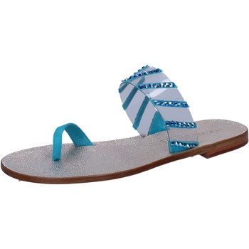 Sapatos Mulher Sandálias Eddy Daniele sandali blu camoscio plastica swarovski aw487 Blu