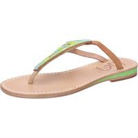 Sapatos Mulher Sandálias Eddy Daniele sandali multicolor pelle perline aw384 Multicolore