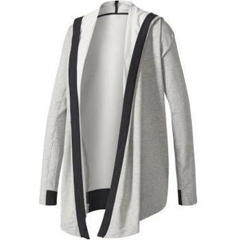 Textil Mulher Sweats adidas Originals Wrap ME UP Coverup Cinzento