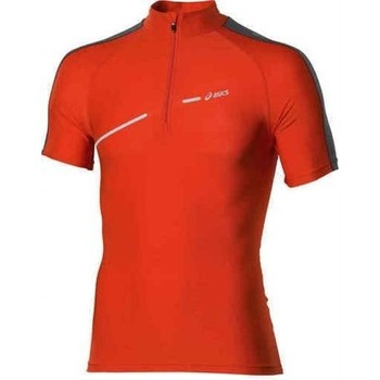 Textil Mulher T-Shirt mangas curtas Asics 1/2 ZIP TOP FW12 421016-0540 orange