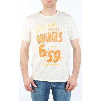 Textil Homem T-Shirt mangas curtas Lee MARCANTILE L668ABBC white