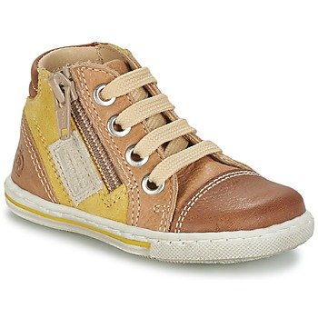 Sapatos Criança Sapatilhas de cano-alto Citrouille et Compagnie MIXINE Castanho