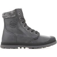 Sapatos Mulher Botas baixas Palladium Pampa Hi Knit  LP 95172-036-M grey