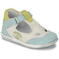 Sapatos Rapaz Sandálias Citrouille et Compagnie XOULOU Branco / Azul / Verde