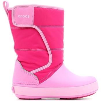 Sapatos Criança Botas de neve Crocs LODGEPOINT SNOW K 204660-6LR pink