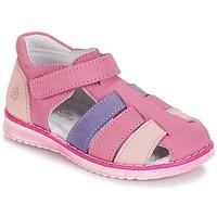 Sapatos Rapariga Sandálias Citrouille et Compagnie CHIZETTE Lilás / Rosa / Rosa fúchia