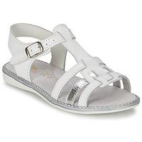 Sapatos Rapariga Sandálias Citrouille et Compagnie ROLUI Branco