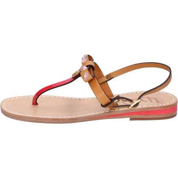 Sapatos Mulher Sandálias Eddy Daniele sandali cuoio pelle rosso vernice ax766 Rosso