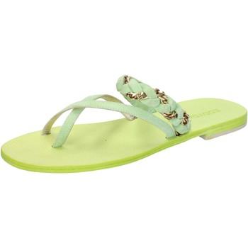 Sapatos Mulher Sandálias Eddy Daniele sandali verde camoscio aw169 Verde
