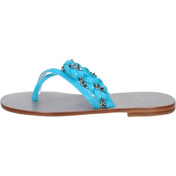 Sapatos Mulher Sandálias Eddy Daniele sandali celeste camoscio aw193 Blu