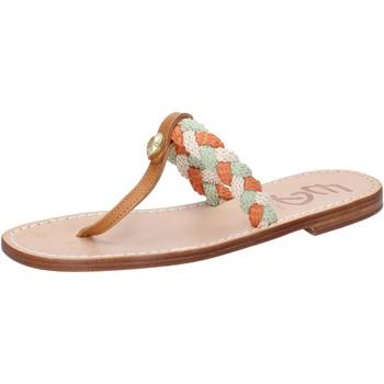 Sapatos Mulher Sandálias Eddy Daniele sandali multicolor corda pelle ax953 Multicolore
