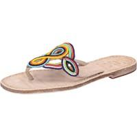 Sapatos Mulher Sandálias Eddy Daniele sandali multicolor pelle perline av408 Multicolore