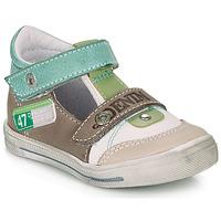 Sapatos Rapaz Sandálias GBB PEPINO Branco / Verde / Toupeira
