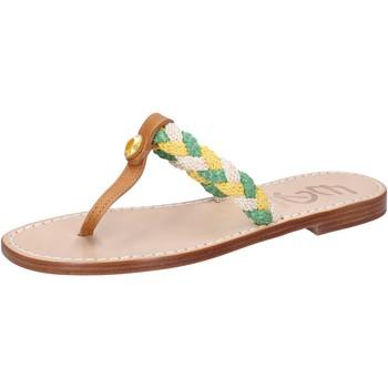 Sapatos Mulher Sandálias Eddy Daniele sandali multicolor pelle corda ax790 Multicolore