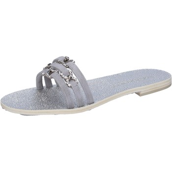 Sapatos Mulher Sandálias Eddy Daniele sandali grigio camoscio swarovski aw236 Grigio