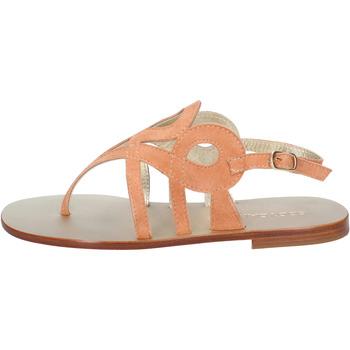 Sapatos Mulher Sandálias Eddy Daniele sandali arancione camoscio aw320 Arancio