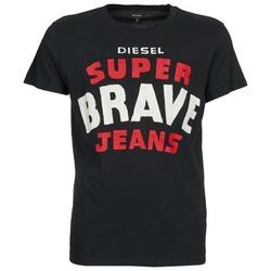 Textil Homem T-Shirt mangas curtas Diesel T-ASTERIOS Preto