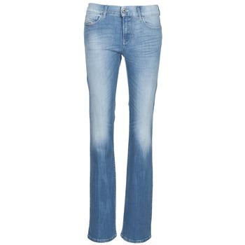 Textil Mulher Calças de ganga bootcut Diesel BOOTZE Azul