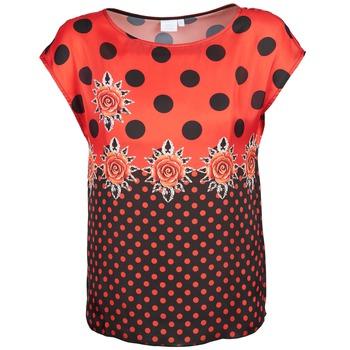 Textil Mulher T-Shirt mangas curtas Alba Moda BETTINA Vermelho / Preto
