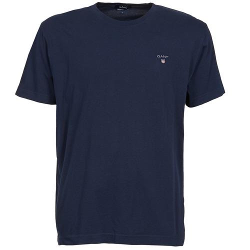 Textil Homem T-Shirt mangas curtas Gant SOLID Marinho