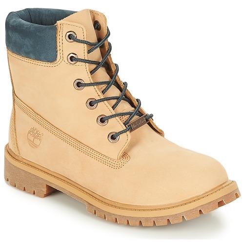 Sapatos Criança Botas baixas Timberland 6 In Premium WP Boot Café