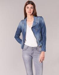 Textil Mulher casacos de ganga Schott JANIS Azul