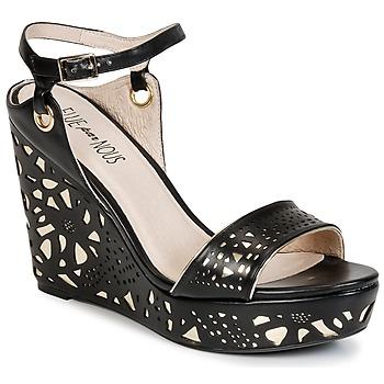 Sapatos Mulher Sandálias Elue par nous RIAZONE Preto